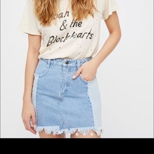 Free People Morning Daze Denim Mini Skirt